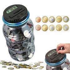 Electronic Digital LCD Coin Counter Counting Jar Money Saving Piggy Bank Box US