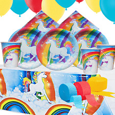 Unicorn Party Kit 5 For 8 to 16 Children | Tableware Decorations | Unicorn Party