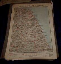 ANCONA - ASCOLI 1925 ATLANTE STRADALE D'ITALIA TCI Foglio n. 26