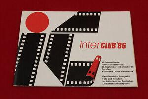 interclub '86 VII. Internationale Fotoklub-Ausstellung Potsdam