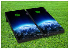 VINYL WRAPS Cornhole Boards DECALS Earth From Space Bag Toss Game Stickers 106