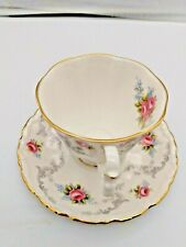 Vintage Royal Albert Tranquility Tea Cup Saucer Set Bone China England
