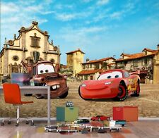 Disney wall mural wallpaper children's bedroom Cars in Italy PREMIUM brown