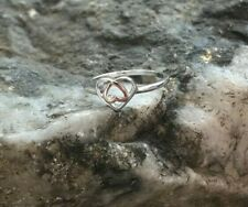 Official Clogau Silver & Rose Gold Affinity Heart Ring £20 off! SIZE L