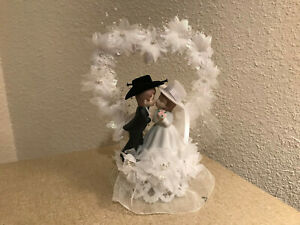 """VTG  Western Cowboy n girl cake topper or table center piece Coast Collection 9"""""""