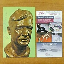 Ernie Nevers Signed Football HOF Postcard with JSA COA