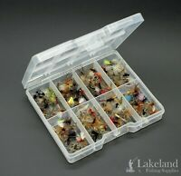 Tackle Fly Box with Assorted Mixture of Dry Flies for Trout Fishing, Starter Kit