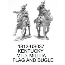 28mm KENTUCKY MOUNTED MILITIA FLAG & BUGLE - WAR OF 1812 - KNUCKLEDUSTER