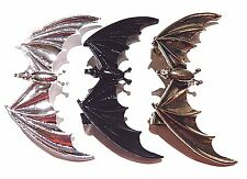 VAMPIRE BAT WRAP EAR CUFF silver bronze black gothic Halloween Earring clip 3W