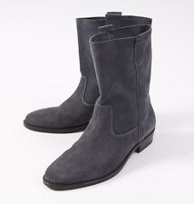 $480 SURFACE TO AIR Medium Gray Calf Suede Leather Ankle Boots 8 D (EU 41)