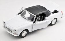 BLITZ VERSAND Peugeot 404 Cabrio Cabriolet 1960-1975 weiss 1:24 NEU Welly Modell