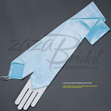 Stretch Satin Fingerless Gloves Opera Length 16BL - Various Colors