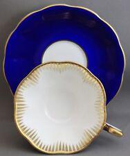 Royal Albert Tea Cup & Saucer - Royal Blue/Gold  L340