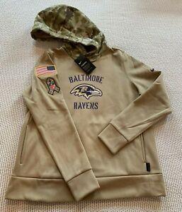 Nike Baltimore Ravens Salute to Service Women's 2XL Hoodie Camo AT7912 RARE