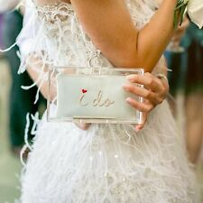New CHARLOTTE OLYMPIA Marry Me Pandora Bridal Wedding Clutch Purse RETAIL $1175