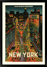 New York Times Square 1930's Broadway Classic Poster 18x24 Inches