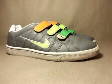 Vintage NIKE i.D. COURT TRADITION VELCRO Leather Trainers UK Size 6.5/EU 40.5