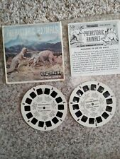 """Prehistoric Animals"". View-master #B6192, B6193. Used condition."