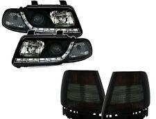 Audi A4 B5 Limo 95-99 LED Tagfahrlicht Optik Scheinwerfer schwarz + Rückleuchten