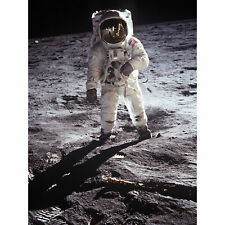 Apollo 11 Astronaut Aldrin Armstrong  Moon Landing XL Canvas Art Print
