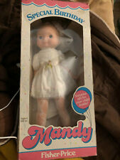 1985 FISHER PRICE DOLL MANDY SPECIAL BIRTHDAY NEW OLD STOCK 1980'S VINTAGE