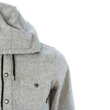 Vans Jacket Hooded Fleece Button Front Van Doren Mens Size Small