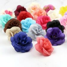 12/25 Pcs Bulk Artificial Silk Flower Heads Simulation Small Rose Fake Floral