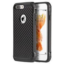 For iPhone 7+ PLUS - HARD RUGGED HYBRID ARMOR SKIN CASE COVER BLACK CARBON FIBER