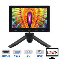 """5"""" IPS LCD-Monitor HD-Bildschirm HDMI AV VGA BNC für das Arbeiten im Freien DSLR"""
