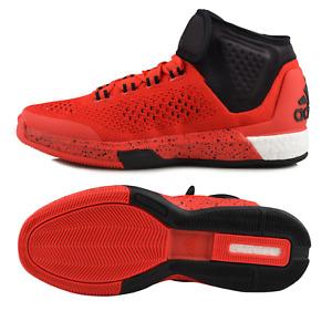 Adidas CrazyLight Boost Primeknit Men Shoes, Red/Scarlet, D69449, Size 13