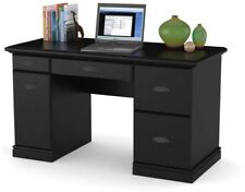 Computer Desk Workstation BLACK Modern Executive Wood Furniture Office Home New