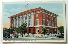 1936 POSTCARD UNITED STATES POST OFFICE & FEDERAL BUILDING NORTH PLATTE NEBRASKA