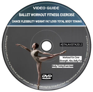 Ballet Workout Fitness Exercise Total Body Toning Weight Fat Loss DVD Video Plus