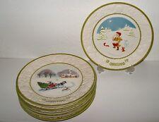 METLOX Vernon Ware Songs of Christmas Commemorative Plate Set of 6