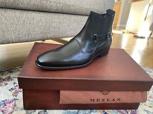 Medium Width Mezlan Essen -/ Mens High-Fashion Side-Zip Lace Up Boot Antiquated European Calfskin with Side-Zip Handcrafted in Spain