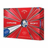 Callaway Chrome Soft Golf Balls, Truvis Blue, One Dozen 2018 Version