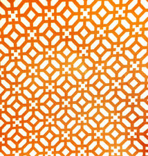 "Waverly SUN n SHADE Outdoor Fabric Orange Geometric 54"" (18 yd available)"