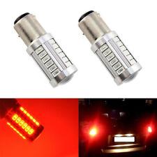 2 x Red BA15S 1156 33SMD LED Tail Bulb 5630 Car Fog Lamp Daytime Running Light