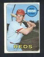 1969 Topps #120 Pete Rose EX/EX+ Reds 125027