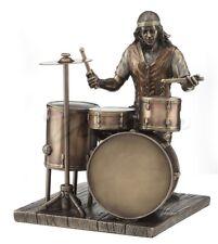 "DRUM PLAYER Bronze Statuette JAZZ BAND Collection Unicorn Studio 10.75/"" Tall"
