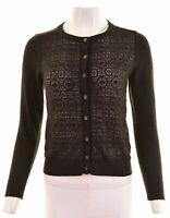 BANANA REPUBLIC Womens Cardigan Sweater Size 10 Small Black Polyester  HZ02