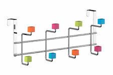 Essentials By Premier Multi-Colour Plastic Cubes 8 Hook Over Door Hanger