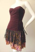 LITTLE POTTY RED SHOES  Velvet Corset Dress  Made in Australia Size 8  US 4