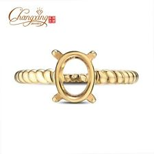 New!! Beautiful 6x8mm Oval Cut 18k/Yellow Gold Semi Mount Ring Free Shipping
