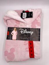 Disney Women's Minnie Mouse Fleece Lounge Hoodie - Pink - M - NWT