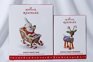 Santa's Sweet Ride Final & Reindeer Limited Edition Hallmark Keepsake Ornament