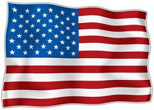 "United States USA Flag Car Bumper Window Mirror Sticker Decal 5""X4"""