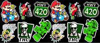 12 Marijuana Weed Cannabis Parody Vinyl Stickers