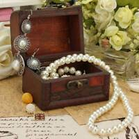 Vintage Schmuck Perlenkette Armband Speicherorganisator Holzkiste Geschenkbox