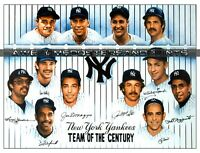 RARE NEW YORK YANKEES, TEAM OF THE CENTURY LITHOGRAPH, LARGE PRINT. REPRINT
